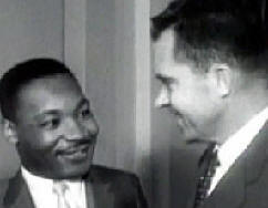 Dr. King with Richard M. Nixon